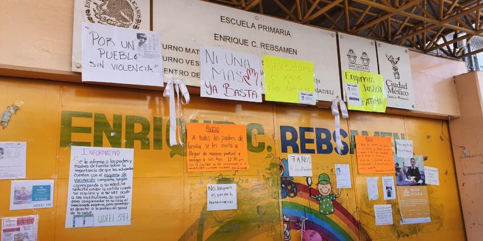 Investigan a primaria Rébsamen por sustracción de Fátima