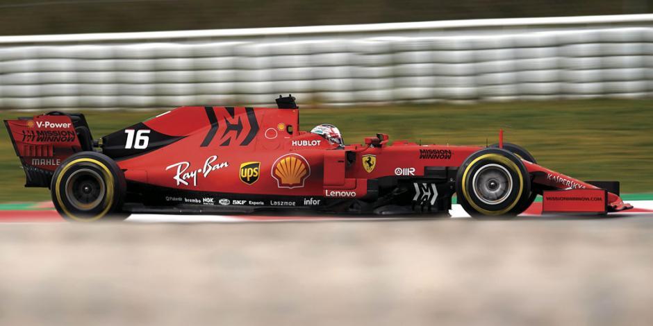 Charles Leclerc, compañero de Vettel en Ferrari, se despide del piloto