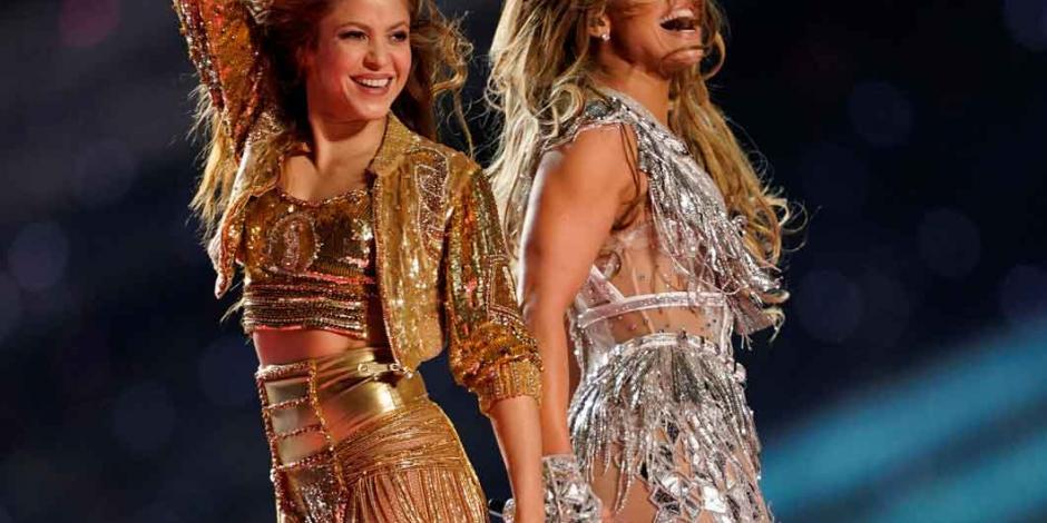 Shakira y JLo llenan de poder latino el gran juego