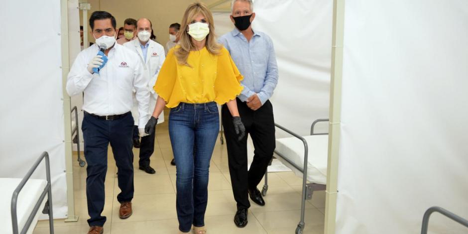Supervisa Claudia Pavlovich reconversión de instalaciones del SNTE a hospital COVID