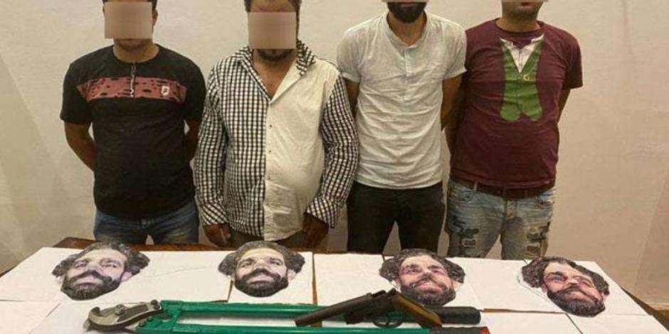 Capturan a banda que robaba con máscaras de Mohamed Salah