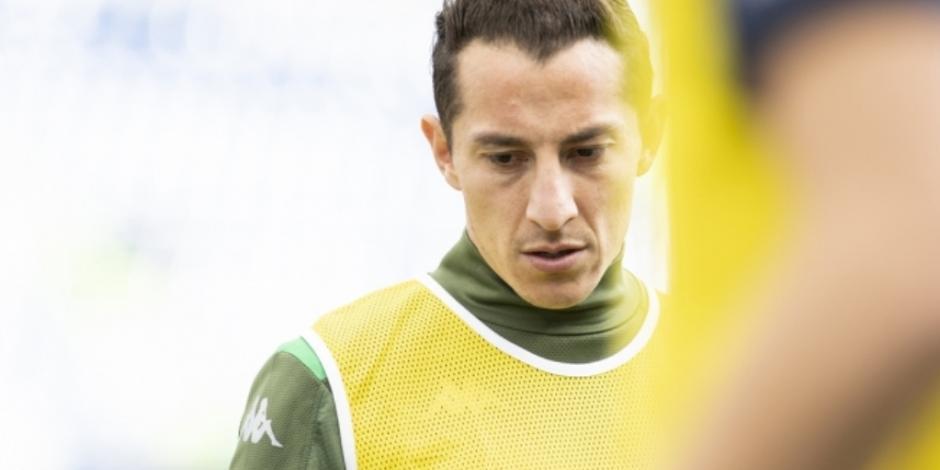 Betis informa que Andrés Guardado es baja por tiempo indefinido