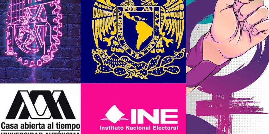 UNAM, IPN, UAM y hasta el INE se suman a #UnDíaSinNosotras