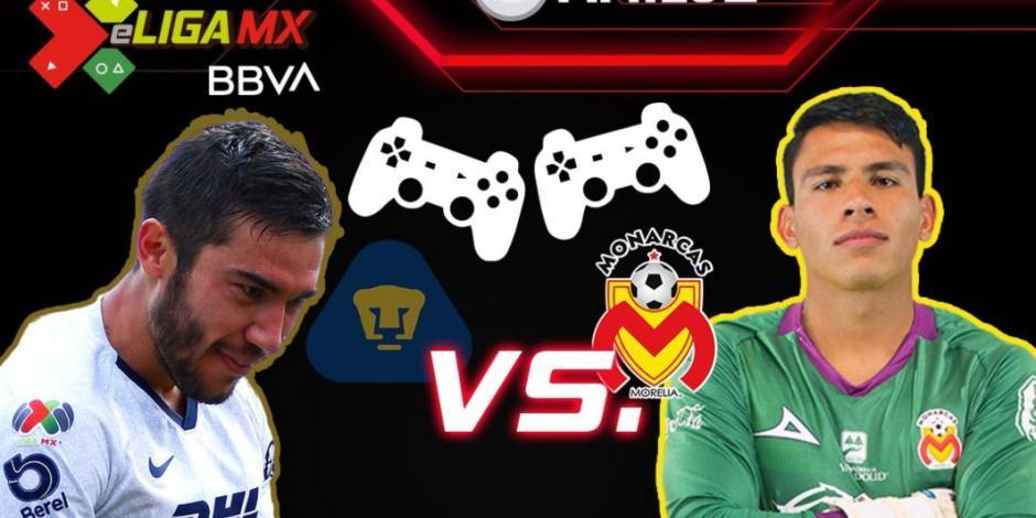 Pumas cae ante Monarcas y suma cuarta derrota consecutiva en la eLiga MX