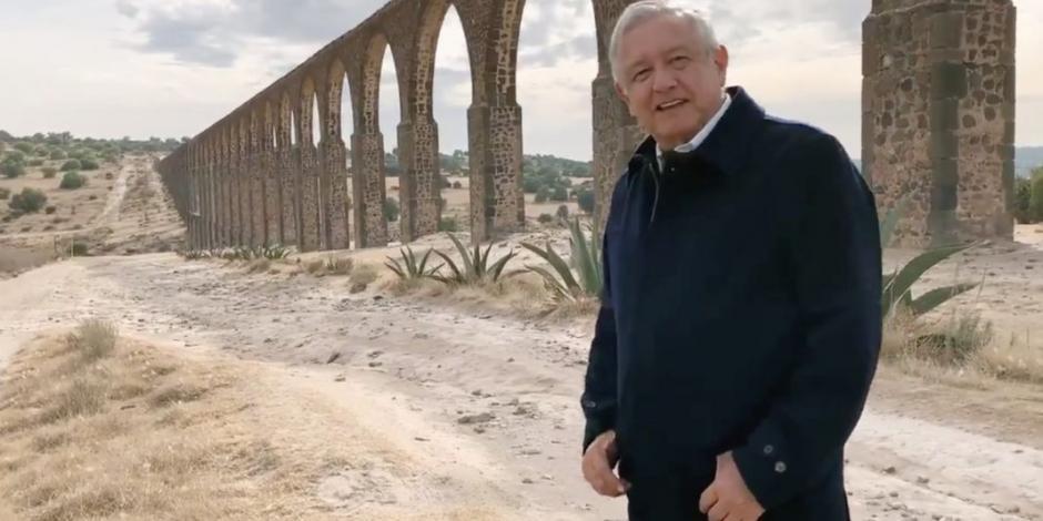 No es por exagerar, pero México es extraordinario: AMLO desde Acueducto Tembleque