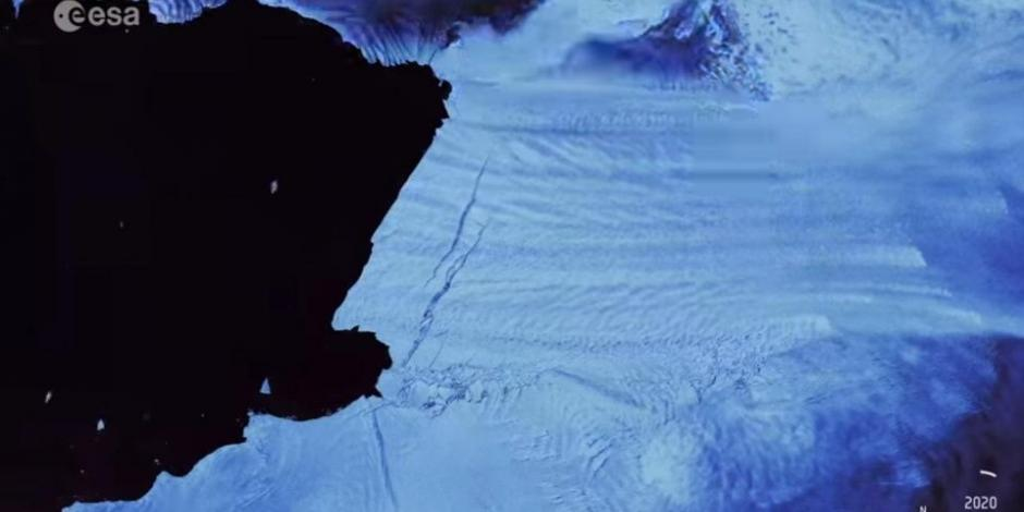Captan momento en que enorme iceberg se desprende de la Antártida (VIDEO)