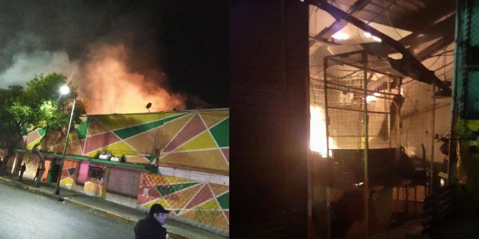 Incendio en mercado Morelos inició en puesto de velas y esoterismo