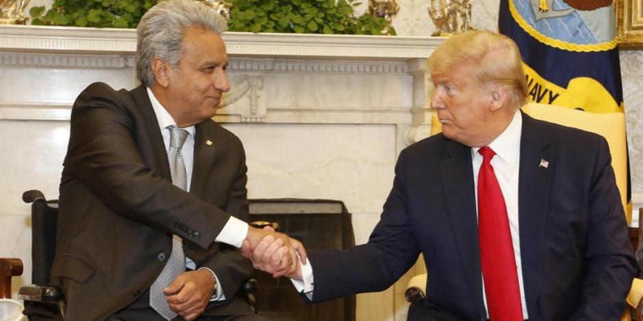 Presidentes de EU y Ecuador analizan posible acuerdo comercial