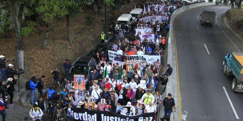 México, en llamas por complicidad con el crimen: Sicilia al iniciar marcha