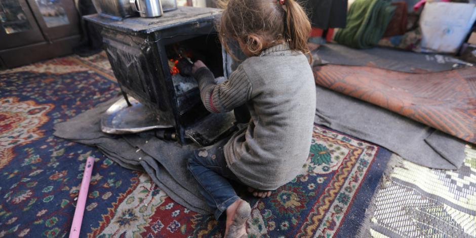 Frío mata a niños sirios que escapan de la guerra