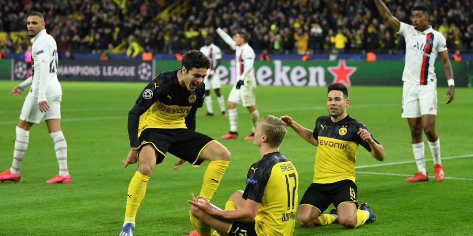 Con doblete de Haaland, Dortmund derrota al PSG en la Champions