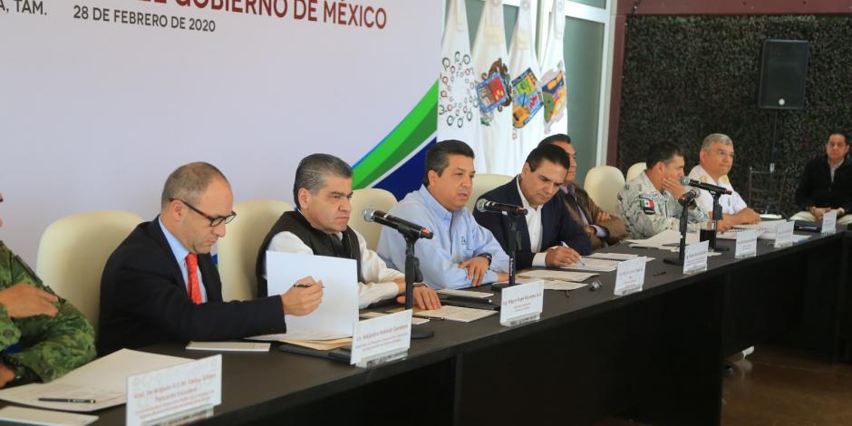Gobernadores de la Zona Noreste analizan en Tamaulipas temas de seguridad