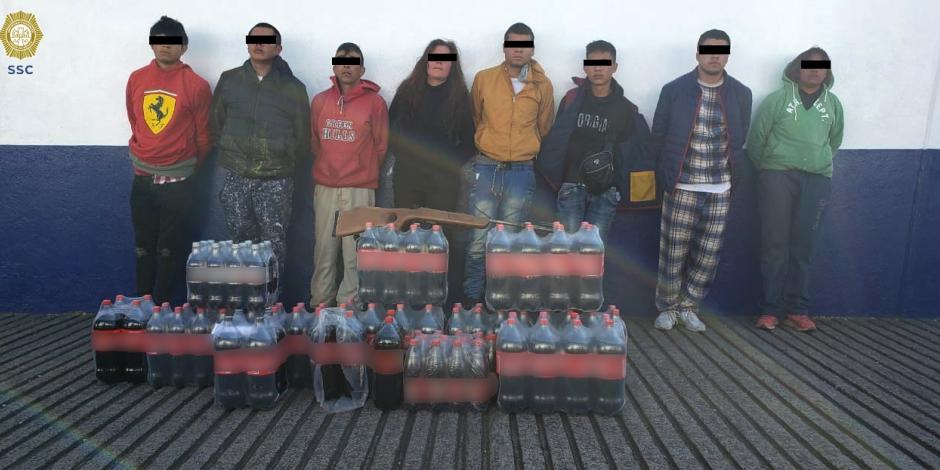 Detiene SSC a 8 presuntos extorsionadores que operaban en Tlalpan