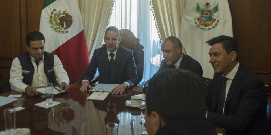 Francisco Domínguez preside reunión de seguridad con góbers de Michoacán, Guerrero e Hidalgo