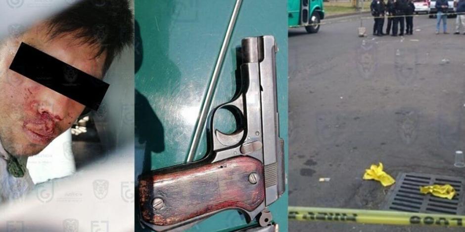 Asaltante herido dispara contra policía que frustró asalto en Iztacalco
