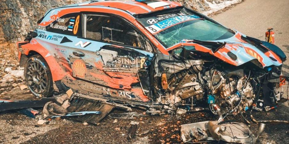 Brutal accidente de campeón mundial de rally en Montecarlo (VIDEO)
