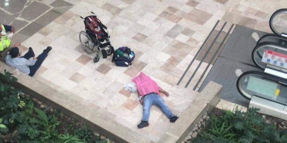 Sufre paro cardíaco cuando huía tras cometer atraco en plaza de Veracruz