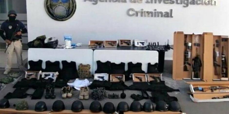 Detienen a seis en Guanajuato con arsenal y explosivos