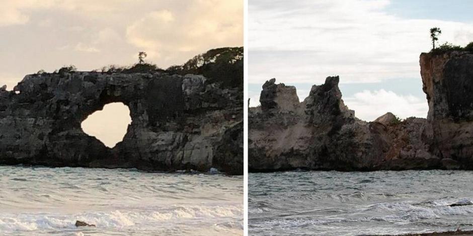 Sismo derrumba Punta Ventana, famosa atracción turística de Puerto Rico (FOTOS)