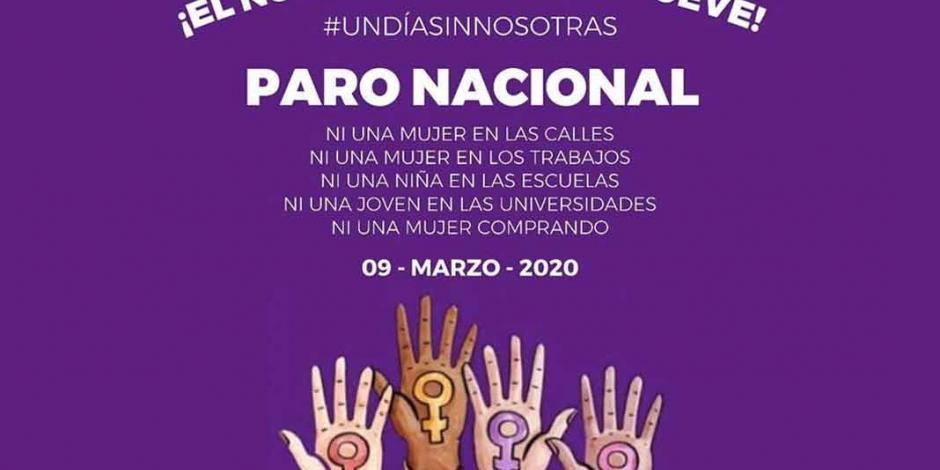 Toma fuerza #UnDíaSinNosotras y su convocatoria a paro nacional