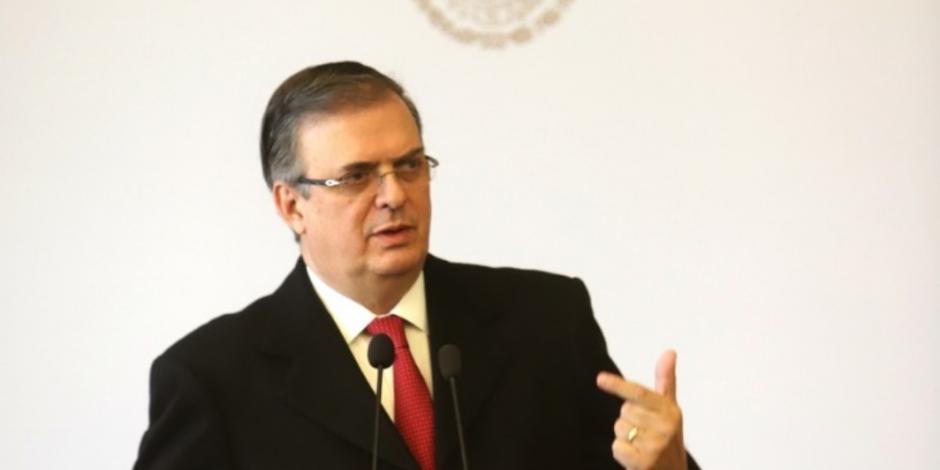 Viaja Marcelo Ebrard a EU para asistir a la firma del T-MEC
