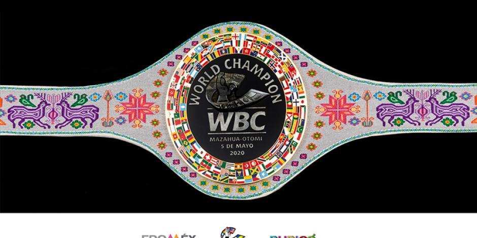 Consejo Mundial de Boxeo presenta el cinturón mazahua (VIDEO)
