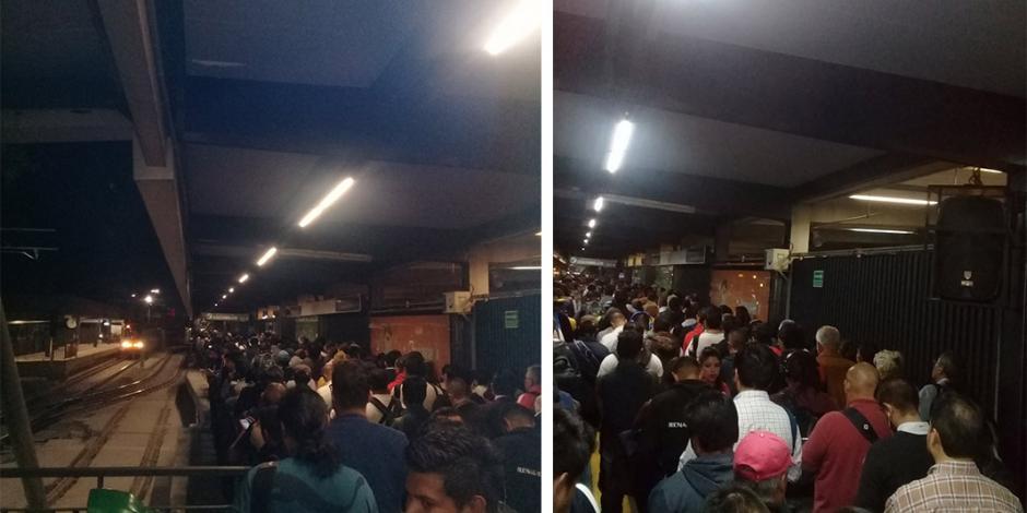 Pasajeros se quedan varados más de una hora por fallas en Tren Ligero
