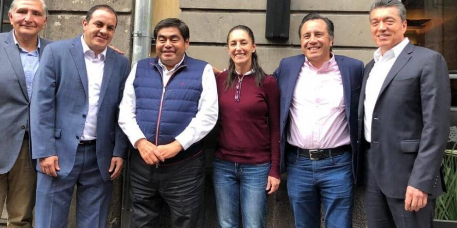 Gobernadores de Morena cierran filas en torno a AMLO