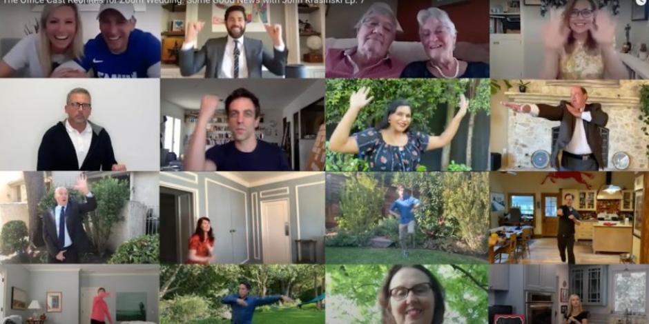 """Elenco de """"The Office"""" hace reencuentro virtual"""