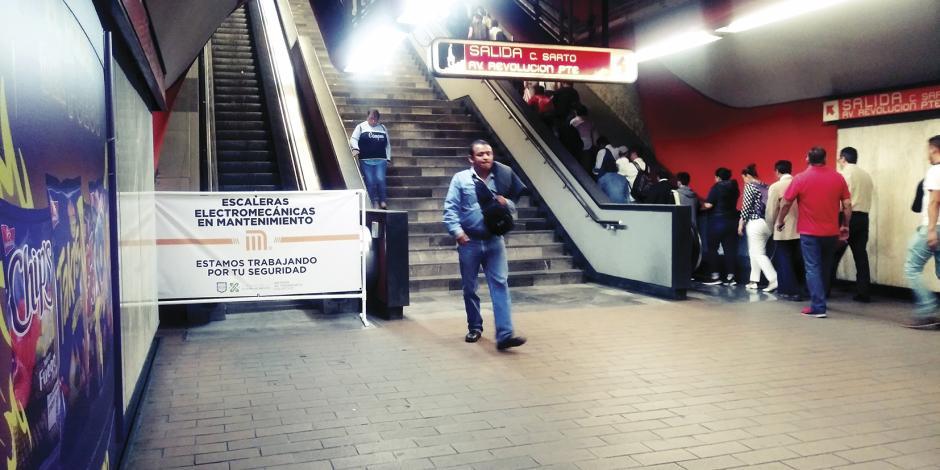 Alistan cambio de 28% de escaleras en el Metro
