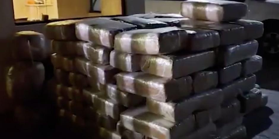 Disfraza conductor 860 kilos de mariguana como pastura