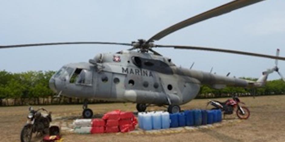 Asegura Marina avioneta con 358 kilos de cocaína en Chiapas