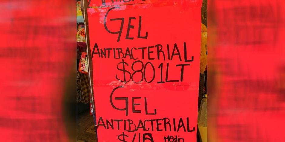 Decomisan más de mil frascos con gel antibacterial pirata en el Centro
