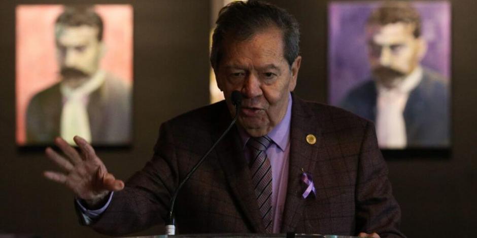 Señala Muñoz Ledo corrupción y tráfico de insumos médicos para COVID-19