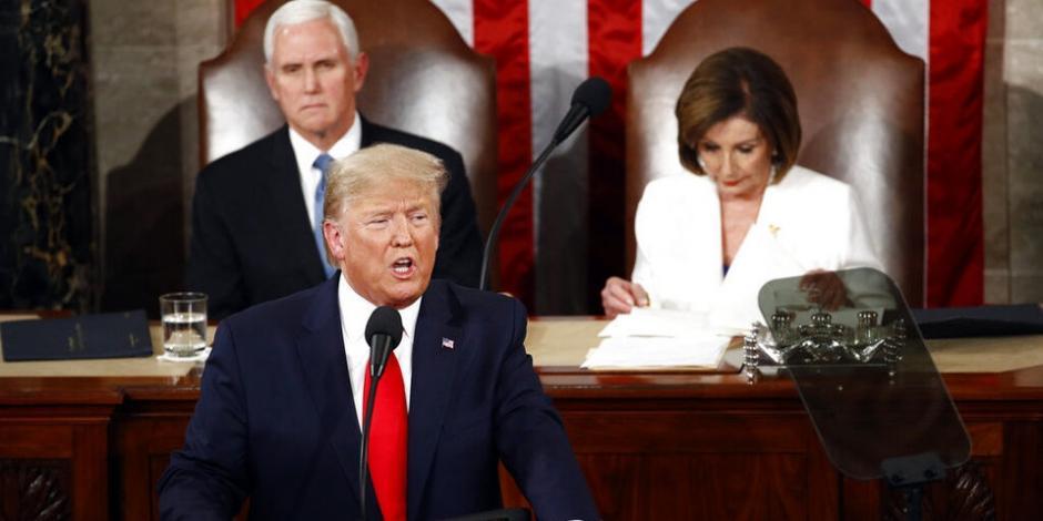 Trump ofrece tercer informe del Estado de la Unión (VIDEO)