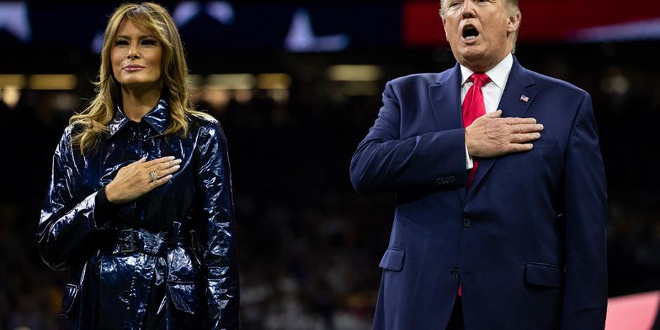 Donald Trump, vitoreado en final de futbol americano colegial