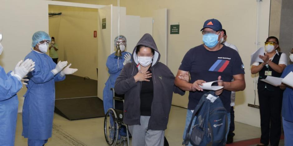 Dan de alta a 11 pacientes con COVID-19 atendidos en el Autódromo Hermanos Rodríguez