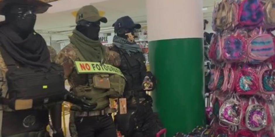 Catean en Monterrey local de ropa donde se surtían sicarios del CDN (VIDEO)
