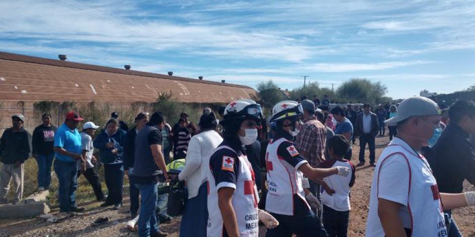 Tren arrolló a camión en Sonora, hay 5 muertos y 32 lesionados