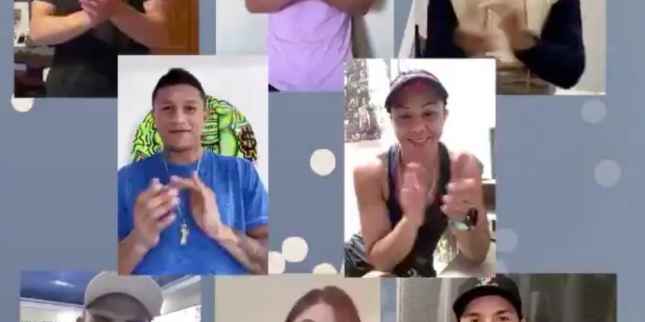 Jackie Nava y campeones mundiales reconocen labor de médicos (VIDEO)