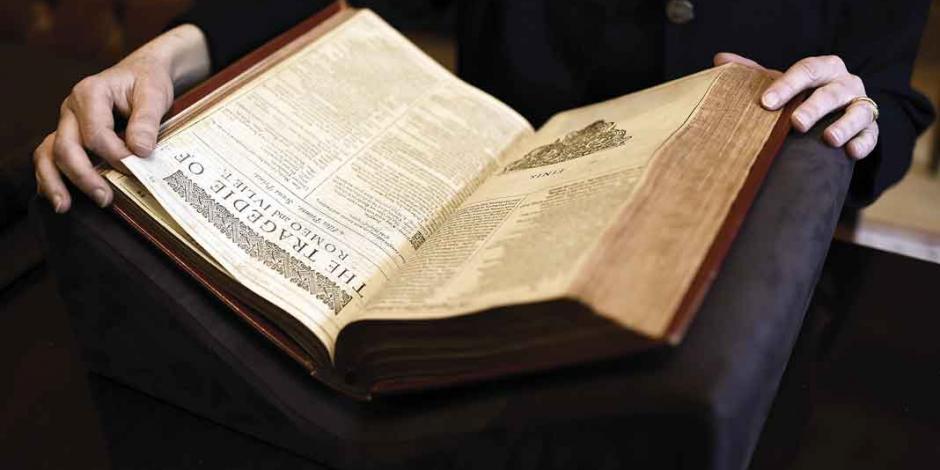 A subasta, raro ejemplar con primera compilación de obras de Shakespeare