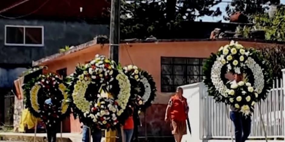 Despiden a Ingrid Escamilla en su natal Necaxa, Puebla