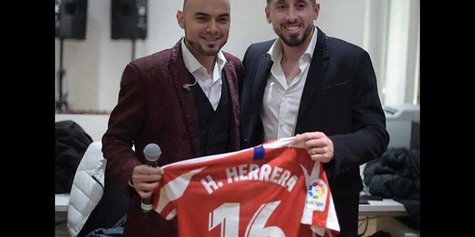 Héctor Herrera convive con La Banda El Recodo en Madrid