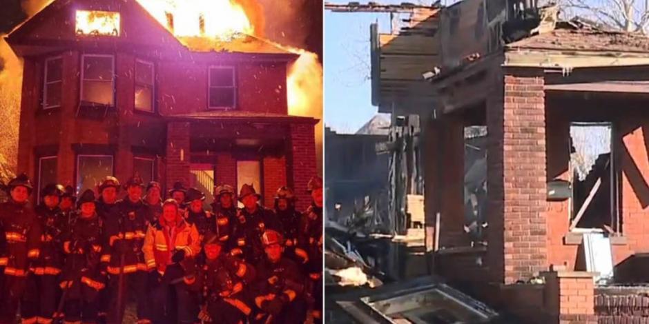 Bomberos causan revuelo por tomarse selfie frente a casa en llamas (FOTO)