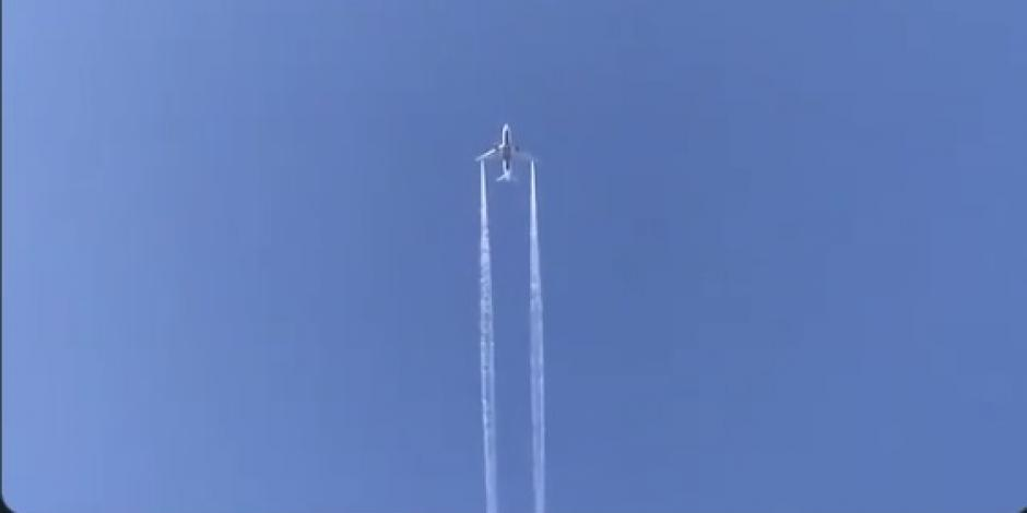 Genera alarma caída de combustible desde avión en Los Ángeles (VIDEO)