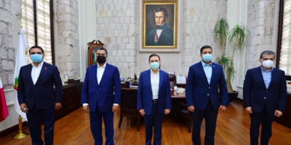 Recibe Aispuro a 4 gobernadores para tratar tema de COVID-19
