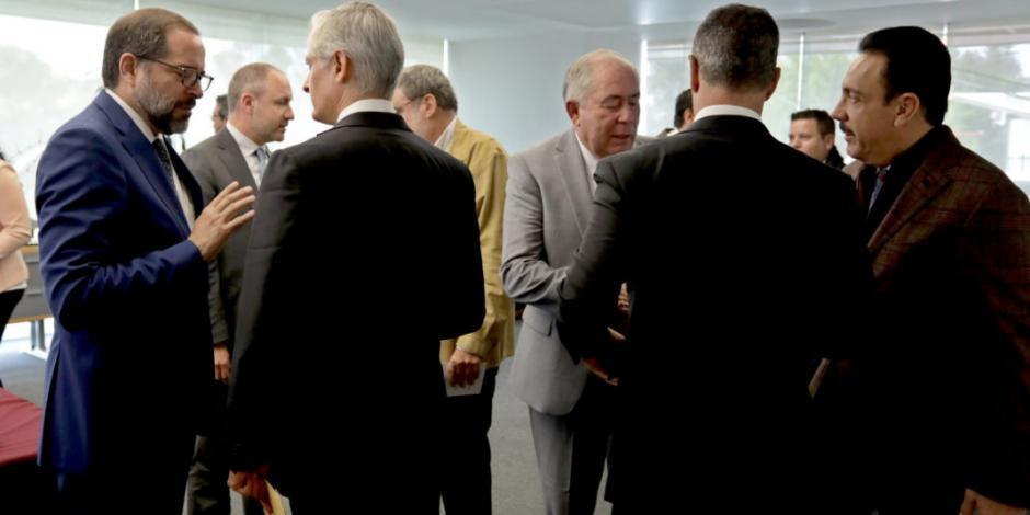Del Mazo se reúne con gobernadores, y secretarios de Seguridad, Sedena...