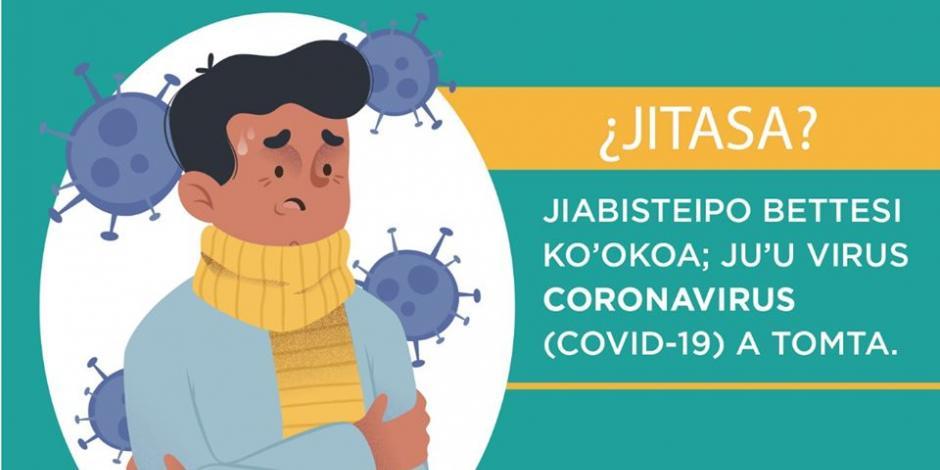 Emiten medidas preventivas contra Covid-19 en lengua Yaqui