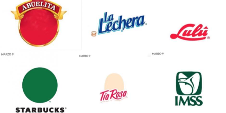 Así lucen estos logos intervenidos durante #UnDiaSinMujeres