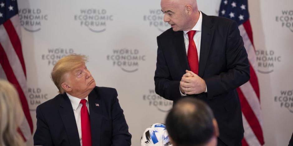 Infantino convive con Trump en Foro Económico de Davos